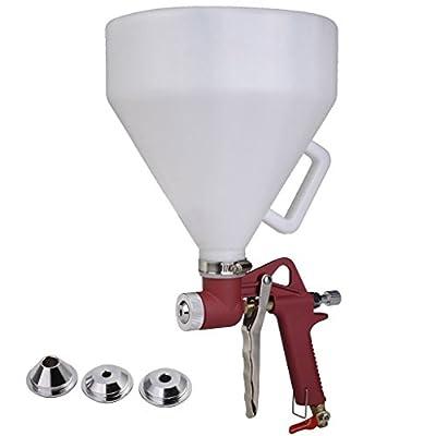 Super Deal 1.5 Gallon Air Hopper Spray Gun Paint Texture Tool Drywall Wall Painting Sprayer w/3 Nozzles(Red)