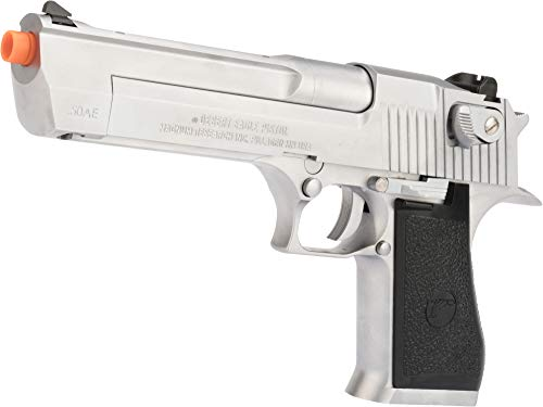 Evike WE-Tech Desert Eagle .50 AE Full Metal Gas Blowback Airsoft Pistol by Cybergun (Color: Silver)
