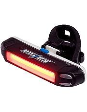 WOTOW Conjunto de luces de bicicleta LED, luces de bicicleta recargables delanteras y traseras USB Lámpara de luces traseras brillantes Combinaciones Faro de bicicleta 4 modos de luz Resistente al agua