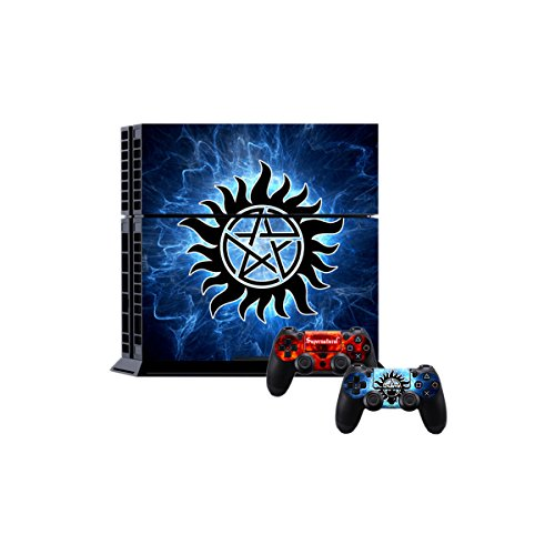 PlayStation 4 Controllers Console Skin Decal - Supernatural Theme - 2 Skins for PS4 Controllers Plus 1 Skin for PS4 Console