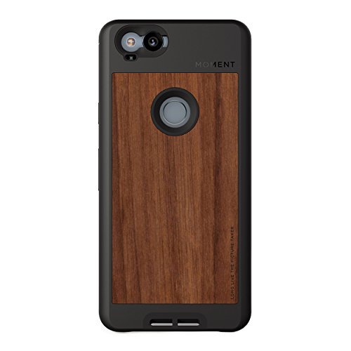Pixel 2 Case    Moment Photo Case in Walnut Wood - Protective, Durable, Wrist Strap Friendly case for Camera Lovers.
