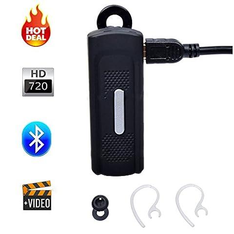 Mengshen Wireless Bluetooth Headset Cam HD Spy Hidden Video Camera