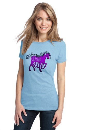 HORSE GIRLS RULE Ladies' T-shirt / Horse Riding 4H Dressage Tee Shirt