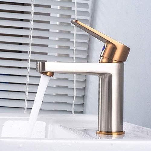 ノルディックブラッシュローズゴールドおよびシルバーメタルブラッシュホットおよびコールドウォーターフォーセットCopper Faucet Under Counter Basin Faucetバスルーム用品