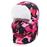CJC Caps Hat + Mask Child Teenager Keep Warm Ear Protection Thickening Four Colors Cold Weather...