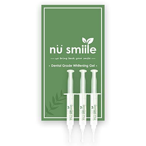 Nu Smiile Dental Grade Whitening Gel Syringe Refill, 9 Key Natural Ingredients, 0.6 Fluid Ounce