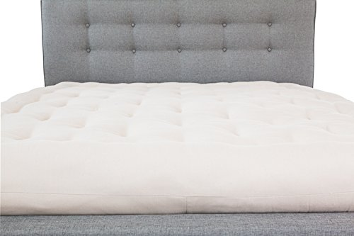 White Lotus Home Green Cotton and Wool Boulder Dreamton Mattress, Twin/6'' by White Lotus Home (Image #2)