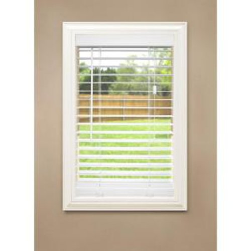 Home Decorators Collection White 2 in. Faux Wood Blind, 64 inx34in.
