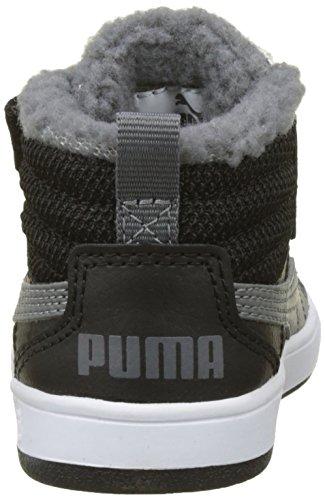 Basses smoked Inf Pearl V2 Fur Noir Puma Rebound Street Mixte black Sneakers V Enfant OHaOTqc