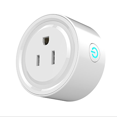 Wi-Fi Smart Plug Mini Outlet, Lower Energy Consumption, Remote Control by Phone App, No Hub Required, works with Amazon Alexa Echo Echodot and Google Home, White (1)
