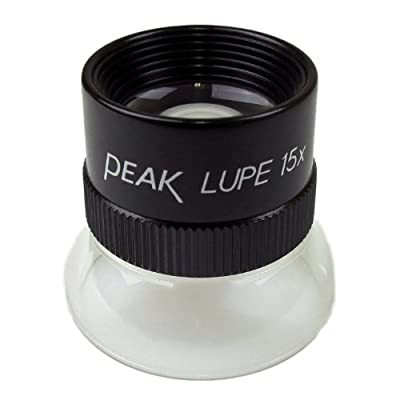 "PEAK TS1962 Fixed Focus Loupe, 15X Magnification, 0.75"" Lens Diameter, 0.79"" Field View by Start International"