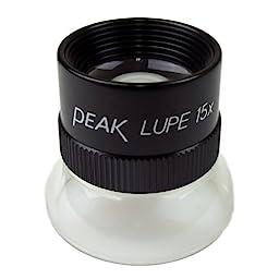 PEAK TS1962 Fixed Focus Loupe, 15X Magnification, 0.75\