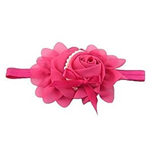 floveme Perla Flores gasa bebé Bug cinta bebé niños pelo joyas para niña rosa rojo
