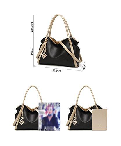 Classic Bag Casuales Personalizados Con Mujeres De Sencillo Ladies Grey Bolsos Bolsa Y Mano Bolsos Estilo De Las Shoulder Temperament Zfq6wd4