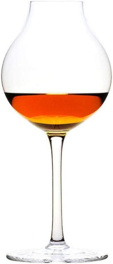 Guio - Copa de vino para whisky, Petaca de hierro caja de regalo, 245mL