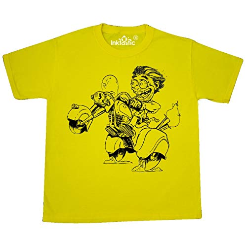 (inktastic - Hot Roddin' Rod on a Youth T-Shirt Youth X-Small (2-4) Yellow 35ed9)