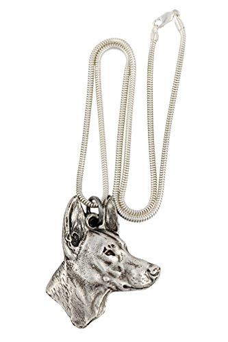 NEW, Pharaoh Hound, dog necklace, silver chain 925, limited edition, ArtDog New Pharaoh Hound