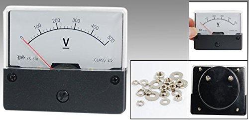 eDealMax YS-670 DC 0-500V mètres Montage sur panneau analogique Voltmètre Jauge