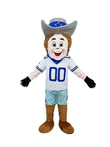 100% Real Photos Dallas Cowboy Rudy Mascot Costume Team Mascots creat You own Mascot Outfit -