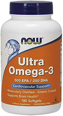Now Foods Ultra Omega-3 Fish Oil 500 EPA 250 DHA 180 Softgels