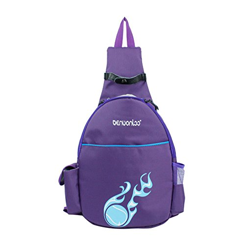 Bronze Times(TM) Tennis Racquet Backpack-Purple