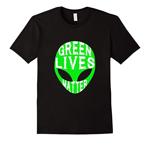 Men's Funny Green Lives Matter T-shirt Aliens I Believe UFO Gift 3XL (Conspiracy Theorist Costume)