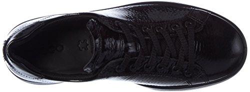 Ecco Dames Soft 4 Sneaker, Zwart Zwart (zwart)