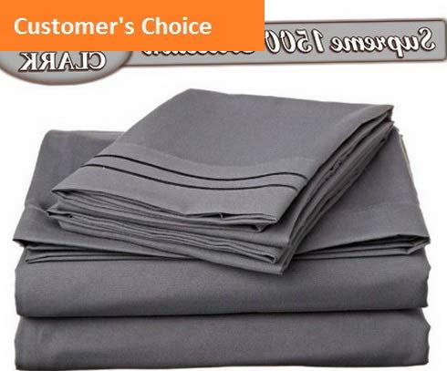 Mikash New Soft Bed Sheet Set - Double Brushed Microfiber 4-Piece Bed Set - Deep Pocket Fitted Sheet - Cal-King - Charcoal Gray | Style 84599671