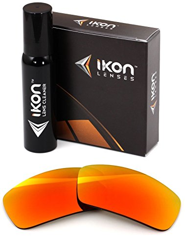 Polarized Ikon Iridium Replacement Lenses For Oakley Valve Sunglasses - Fire Orange - Replacement Oakley Lenses Polarized Valve