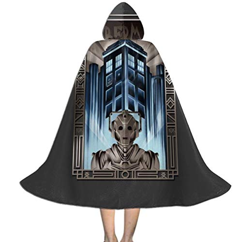 Cyberman Costume For Kids (QINWEILU Upgrade Your Metropolis Cyberman Doctor Who Unisex Kids Hooded Cloak Cape Halloween Christmas Party Decoration Role Cosplay Costumes Outwear)