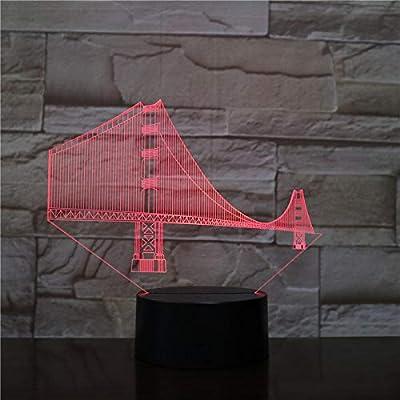 BFMBCHDJ Golden Gate Bridge 3D Touch switch 7 Color Control remoto ...