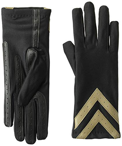 isotoner Spandex Stretch Women's Gloves, Touchscreen, Black, L/XL