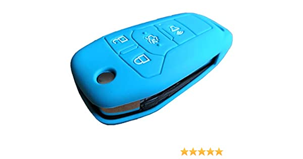 Rose red Rpkey Silicone Keyless Entry Remote Control Key Fob Cover Case protector For 2013 2014 2015 2016 Ford Fusion N5F-A08TAA 164-R7986 3248-A08TAA