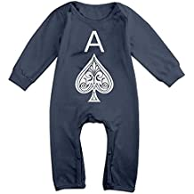 LEUNG FAMILY-A Baby Climbing Clothing Baby Long Sleeve Garment Ace Of Spades For Toddler Boys Girls