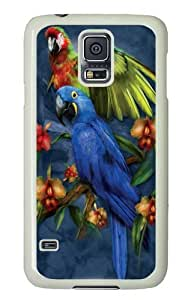 Unique Painting Samsung Galaxy S5 Case, Samsung Galaxy S5 Cases -Tropical Friends Parrot Custom PC Hard Case Cover for Samsung S5/Samsung Galaxy S5