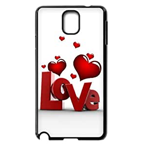 Vety Sleek 3D Love and Heart Samsung Galaxy Note 3 Cases, {Black}