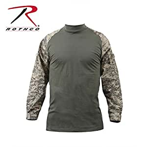 Rothco Combat Shirt, ACU Digital Camo, X-Small