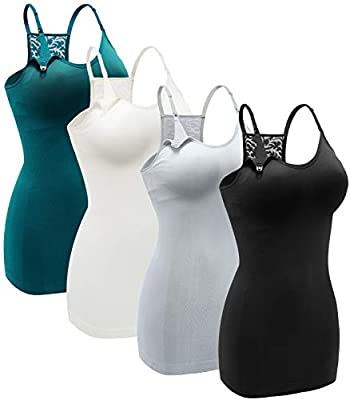 Women's Nursing Tank Top Cami Maternity Bra Breastfeeding Shirts