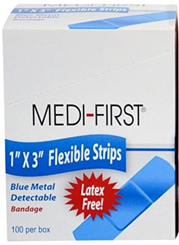 Cloth Adhesive Bandages Strip 1'' x 3'' 1 Case (24 Boxes) by Medique - MS29225