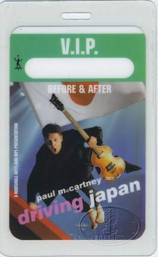 - PAUL McCARTNEY 2002 Driving Japan Tour Laminated Backstage Pass VIP
