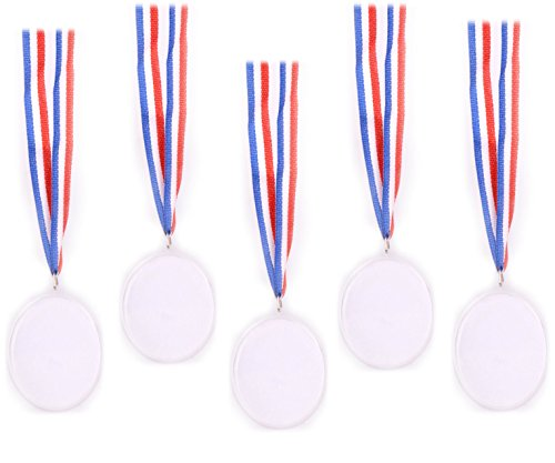 Play Kreative Design Your Own Award Medals - Pack of 24 Kids Winner Awards Medal Prizes - Children DIY Medals Great for Parties and Celebrations, Party Favors, Student Awards