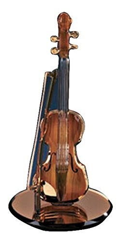 Glass Violin - Glass Baron Gold Violin Figurine