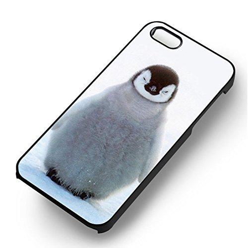 Baby Penguin Ice pour Coque Iphone 6 et Coque Iphone 6s Case (Noir Boîtier en plastique dur) Z6N6YL