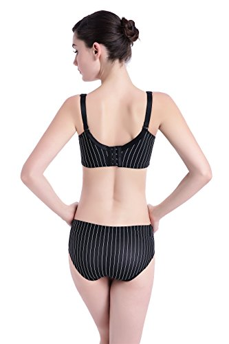 Feeding Refago Thin Set Nursing Double Section without Together Black Bra Rims Opening Front Buckle xZwTZarXq