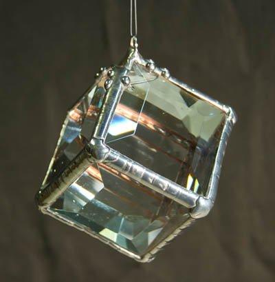 Rainbow Water Prism - Cubie Rainbow Maker - Six Sided Crystal Glass Suncatcher