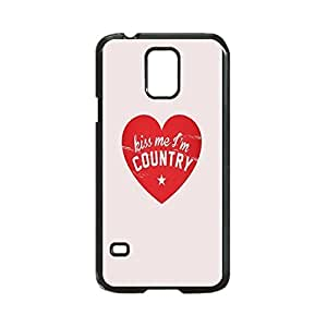 Kiss Me I'm Country Case Unique Diy Skin Custom Hard Durable Case for Samsung Galaxy S5 I9600 Case by runtopwell