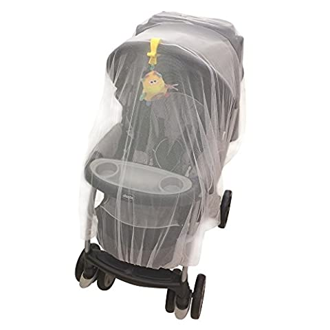 Crocnfrog Mosquito, insect Net, Netting for Strollers, Carriers, Cradles, Car Seats. Designed For Cribs, Bassinets, Most Pack'n'Plays & Playpens. Made of White Durable Insect - Doll Furniture High Chair