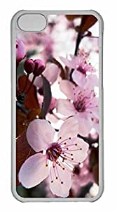 linfengliniPhone 5C Case, Personalized Custom Delicate Cherry Blossom for iPhone 5C PC Clear Case