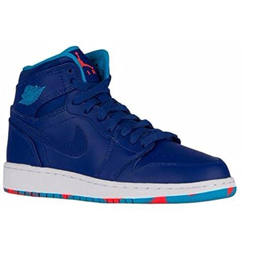 Jordan Big Kids Air 1 Retro High (GS) (deep royal blue/blue lagoon-infrared  23) Size 6.0 US