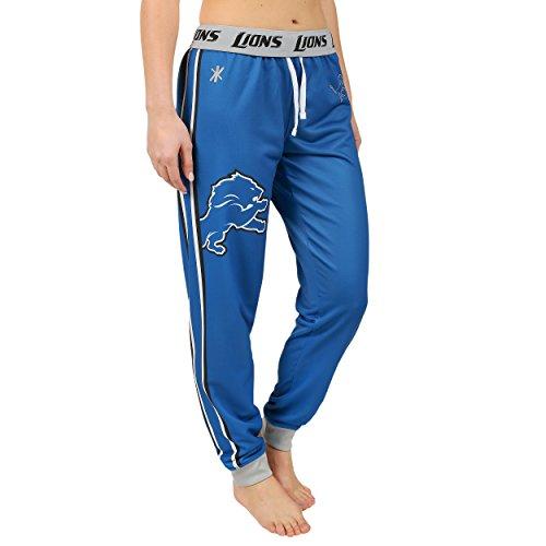 Klew Detroit Lions NFL Womens Cuffed Jogger Pants (Detroit Lions Pajamas Mens)